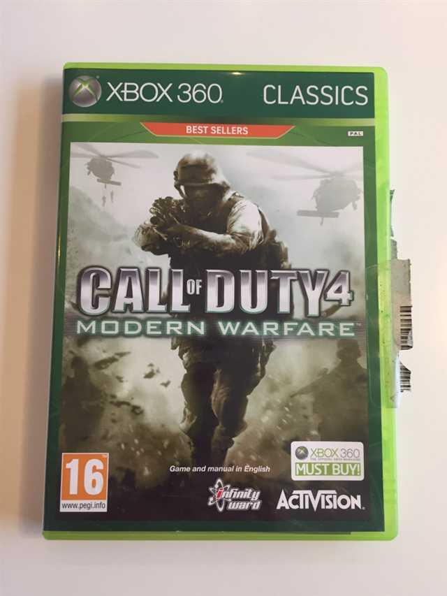 Xbox 360 Spil m Call of Duty 4