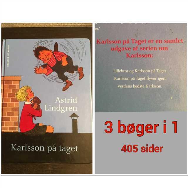 Karlsson på taget (3 bøger i en) Bog