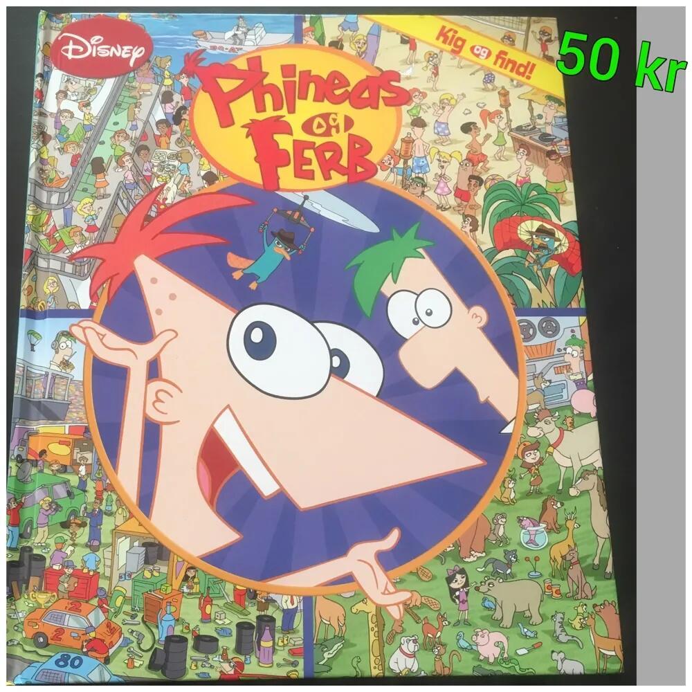 Søg og Find med Phineds og Ferb bog