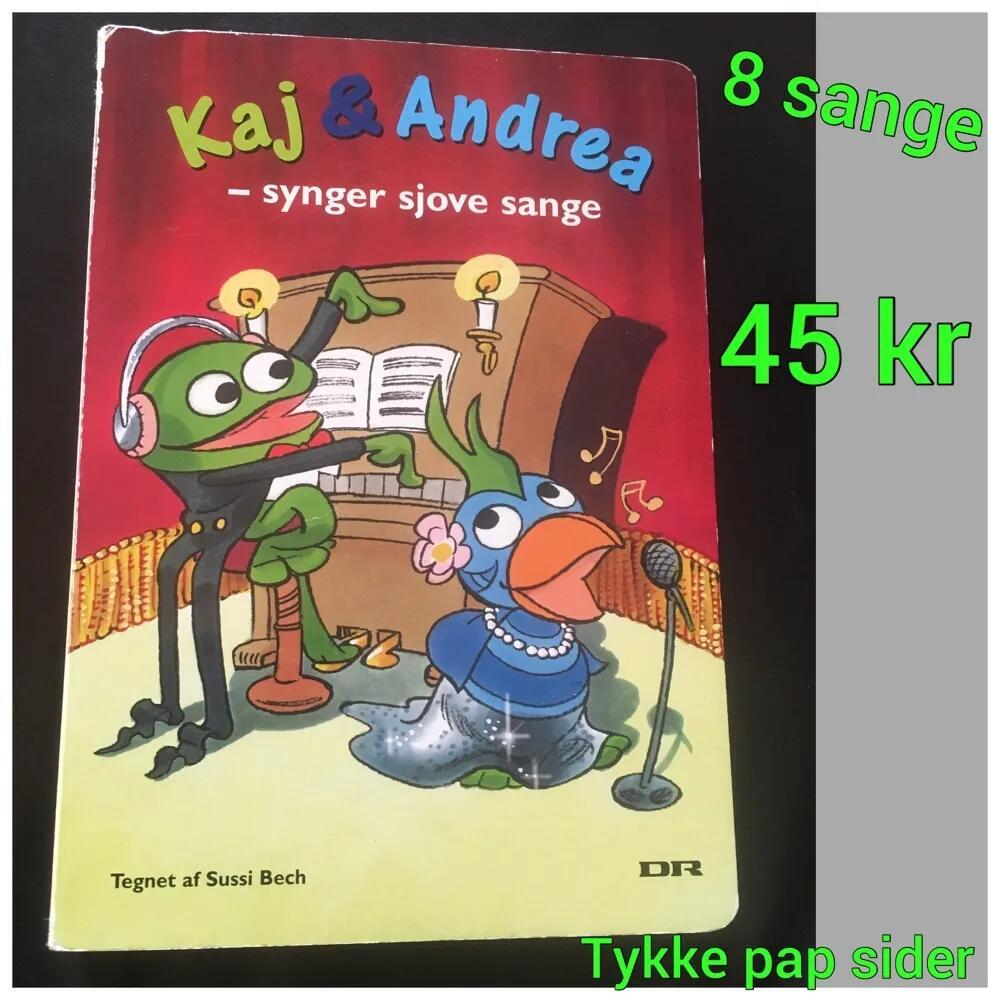 Kaj og Andrea sangbog bog