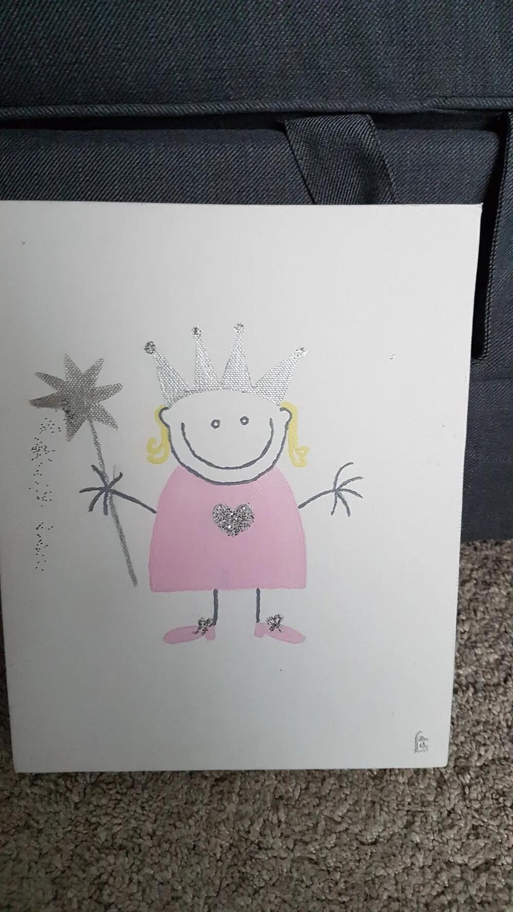 La Petit Peluche Prinsesse Maleri