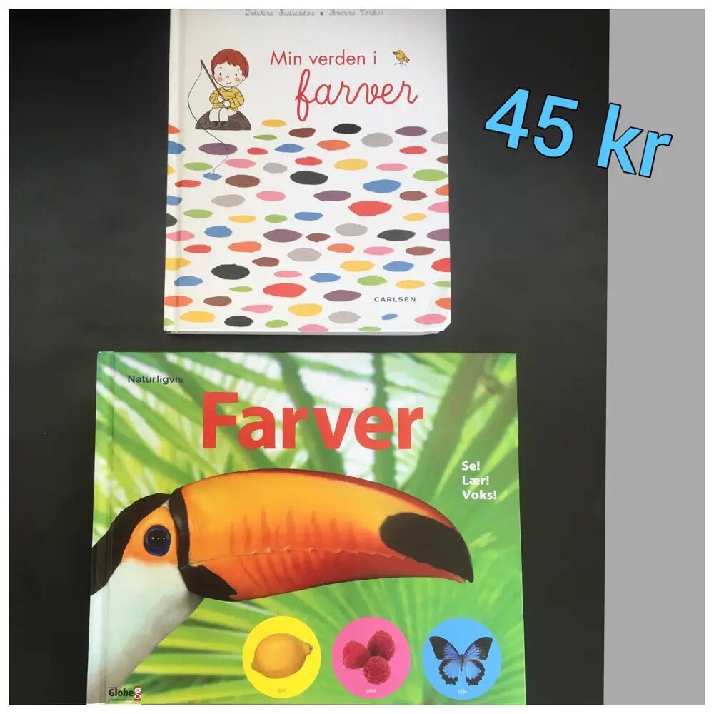 2 bøger om farver bøger