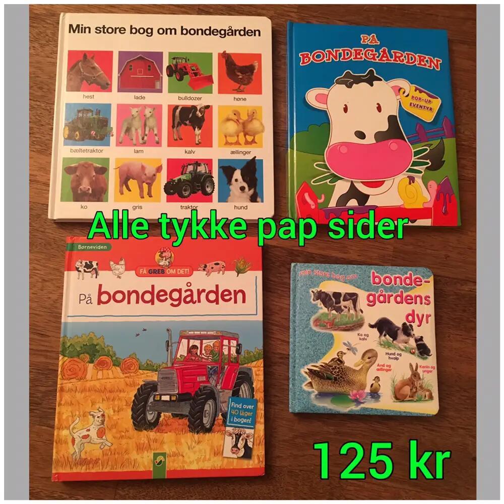 4 bøger med/om bondegård/dyr bøger