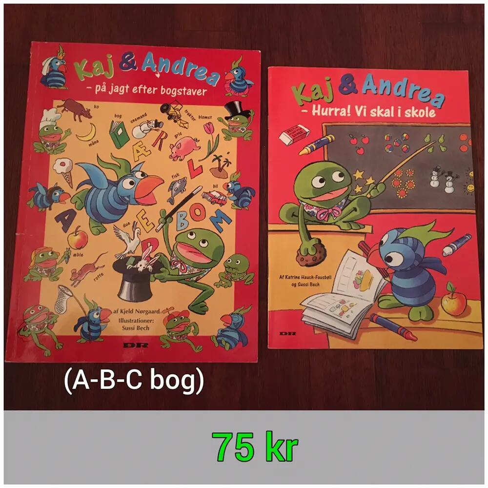Kaj & Andrea lær bogstaver /skole bøger
