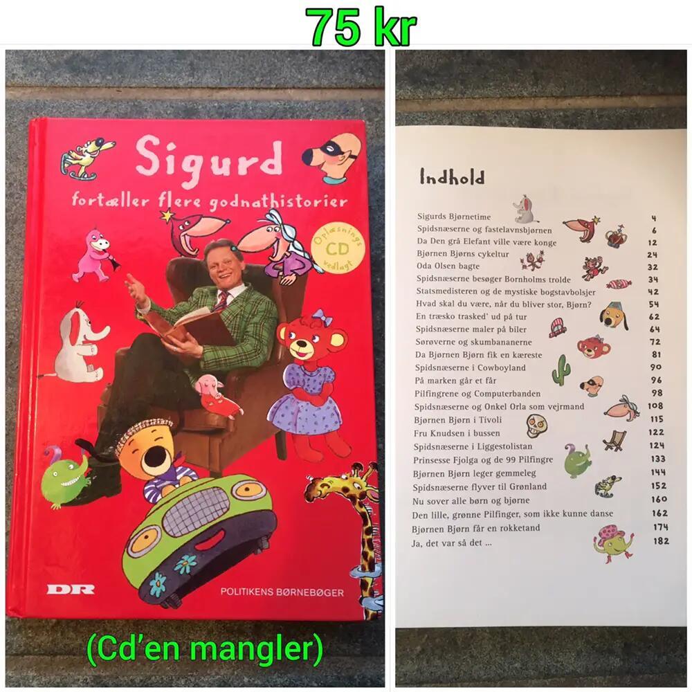 Sigurd fortæller flere godnathistorier bog