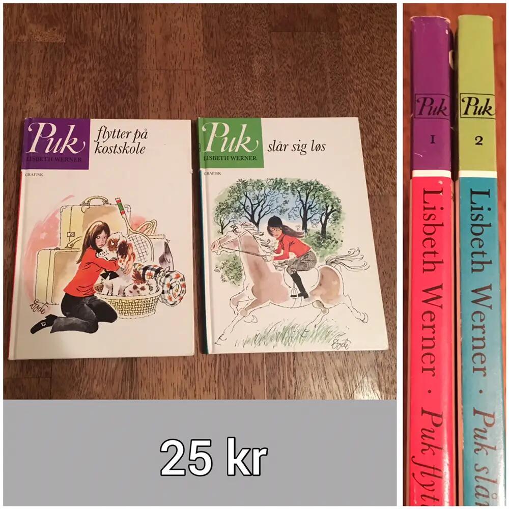 2 Puk bøger (nr 1 + 2) bøger