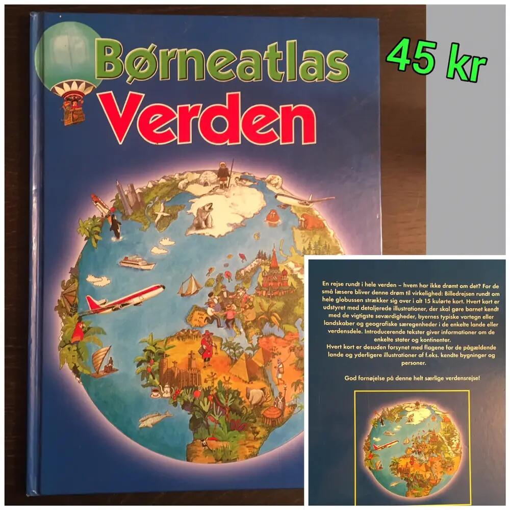 Børneatlas Verden bog