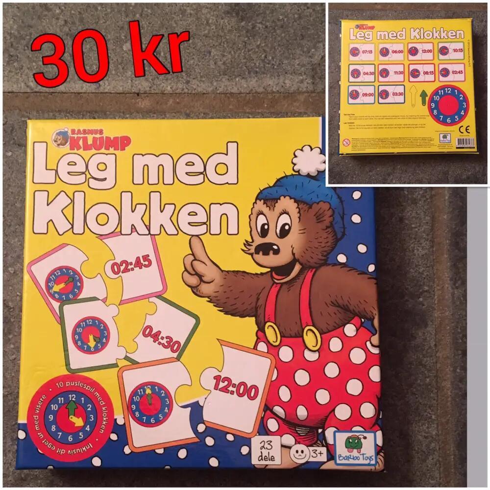Lær klokken med Rasmus Klump .