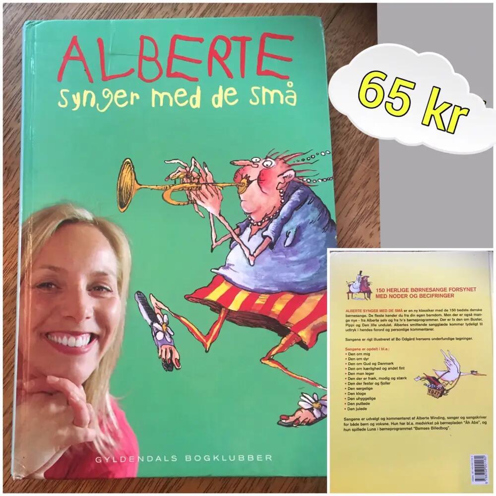 Alberte synger med de små bog
