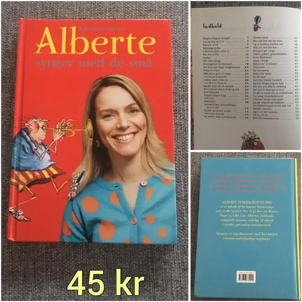 Udvalgte sange med Alberte bøger
