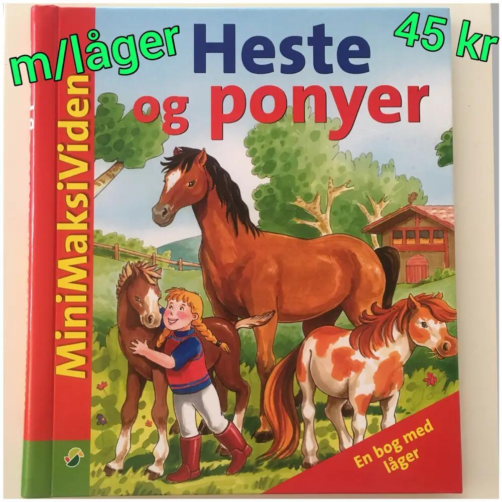 """Heste og Ponyer """"låge"""" bog bog"""