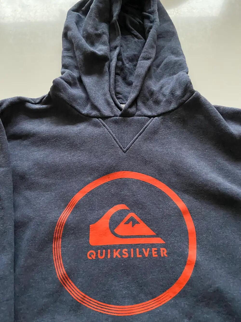 Quicksilver hoodie sweater i bomuld