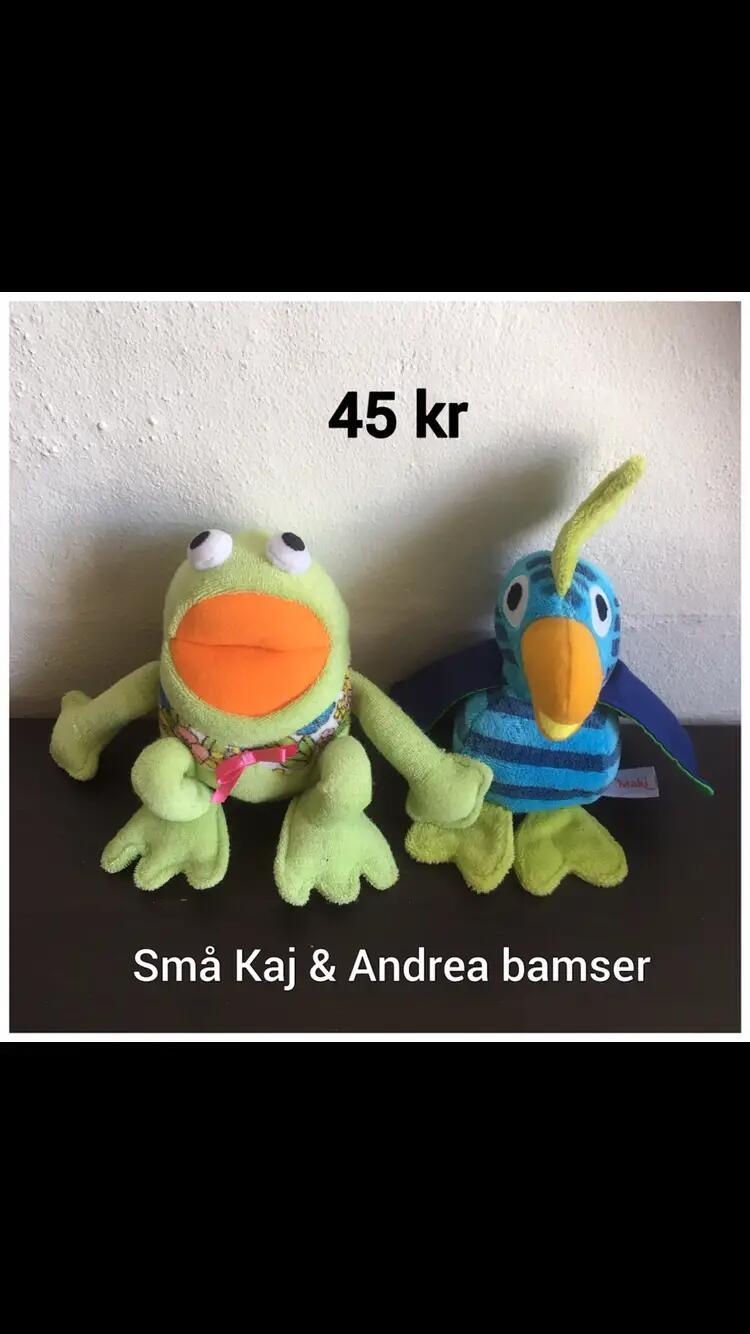 Lille Kaj og Andrea bamser .