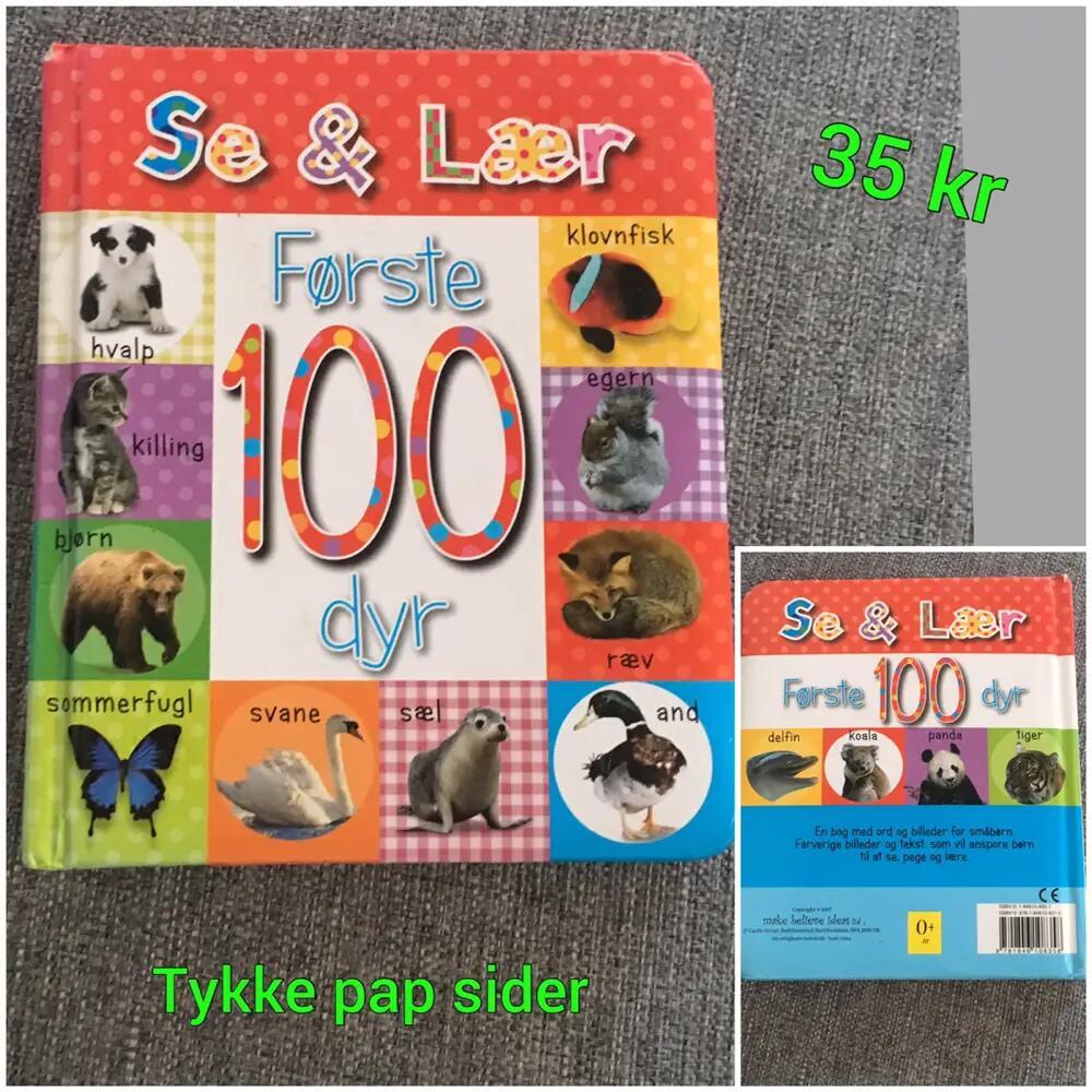 Se og lær  første 100 dyr Bog