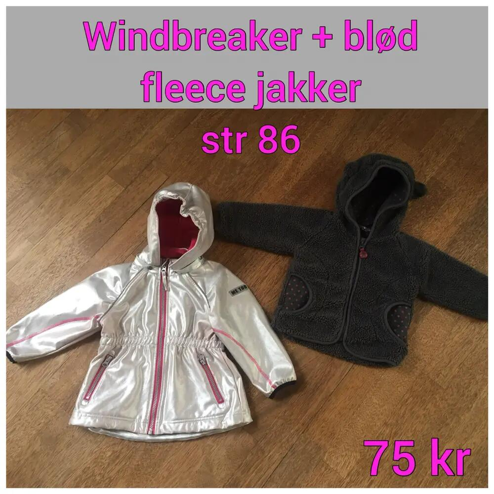 Windbreaker + fleece jakker .