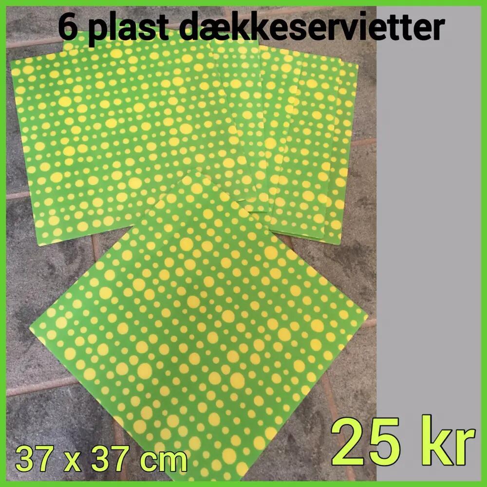 6 plast dækkeservietter .