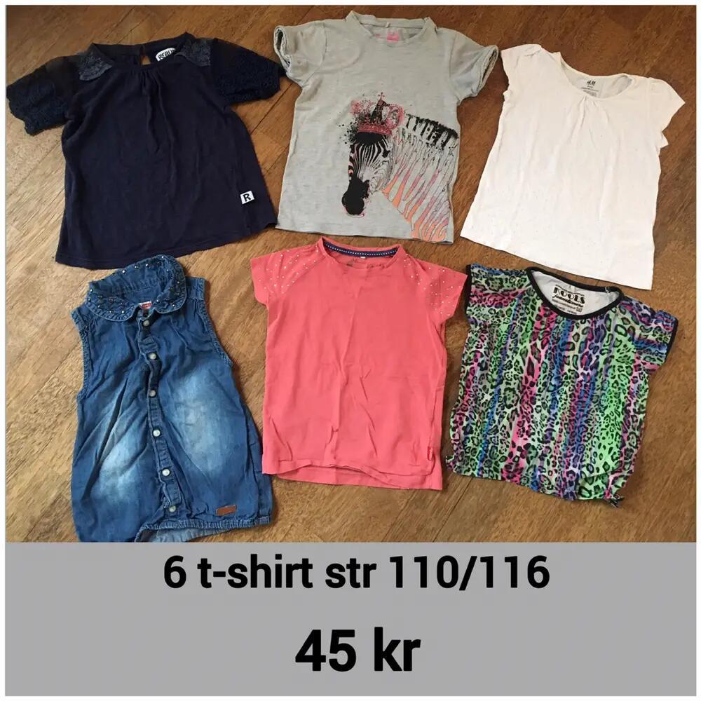 6 t-shirt str 110/116 l