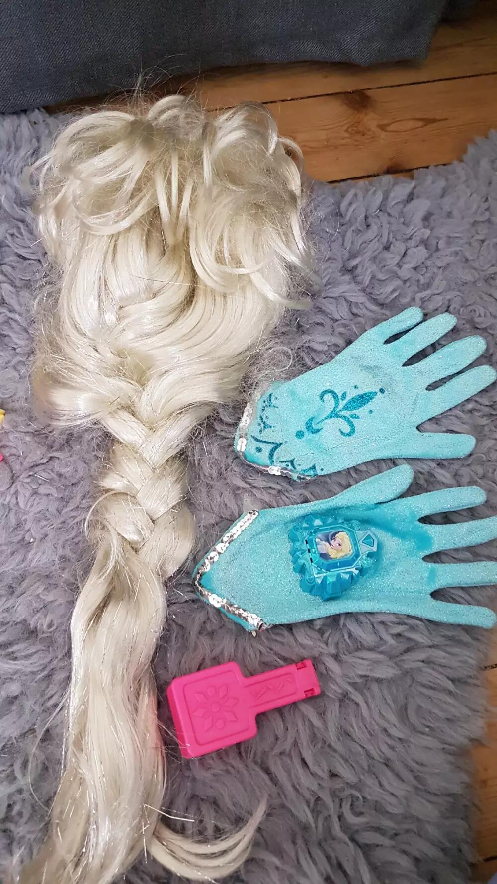 Disney Elsa paryk og tilbehør